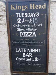 Kings Head midweek promo