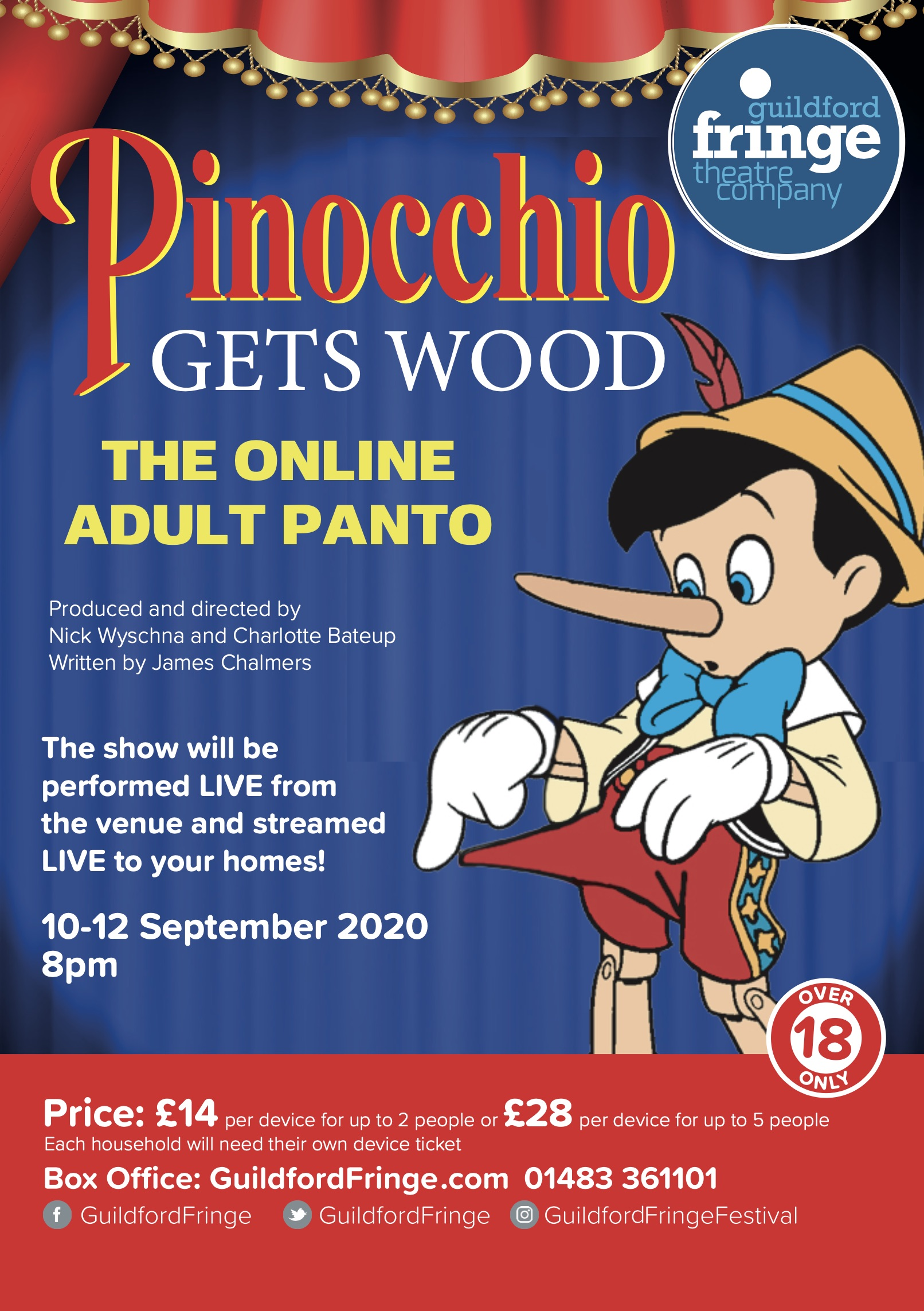 Pinocchio Gets Wood Online Adult Panto Guildford Fringe